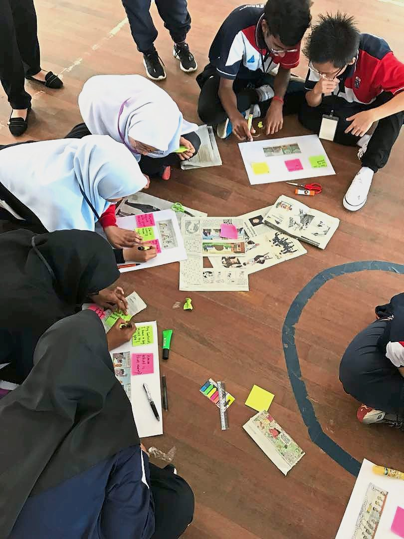 NiE was part of an English camp at SMK Kota Masai, Johor. Students enjoyed the engaging and hands-on newspaper activities.