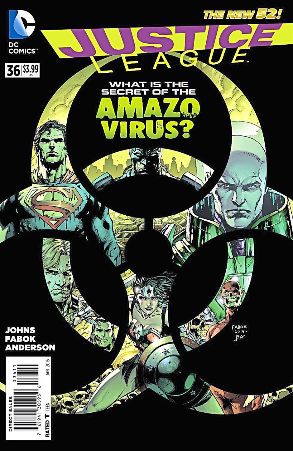 Justice League 36 kicks off the Amazo Virus story arc