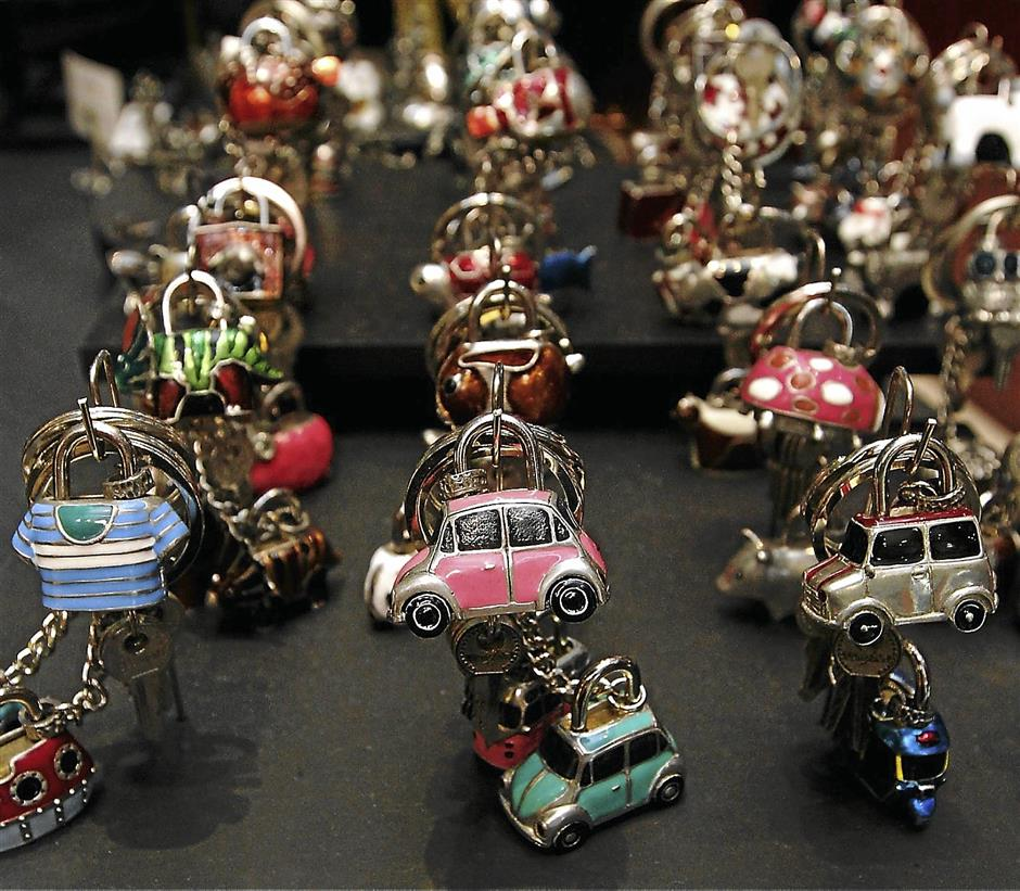 Key chains and locks by Loyfar, the designer pewter from Thailand. The store is now available at Bangsar Village II.