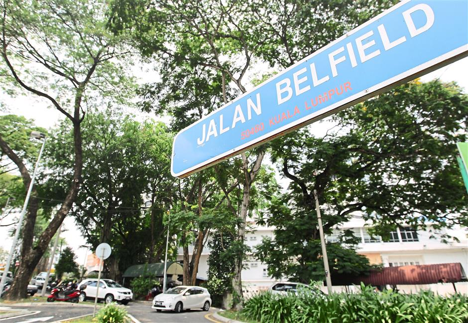Britishs shadows: Jalan Belfield is named after Henry Conway Belfield, who was the British Resident for Negri Sembilan, Selangor and Perak at different time.