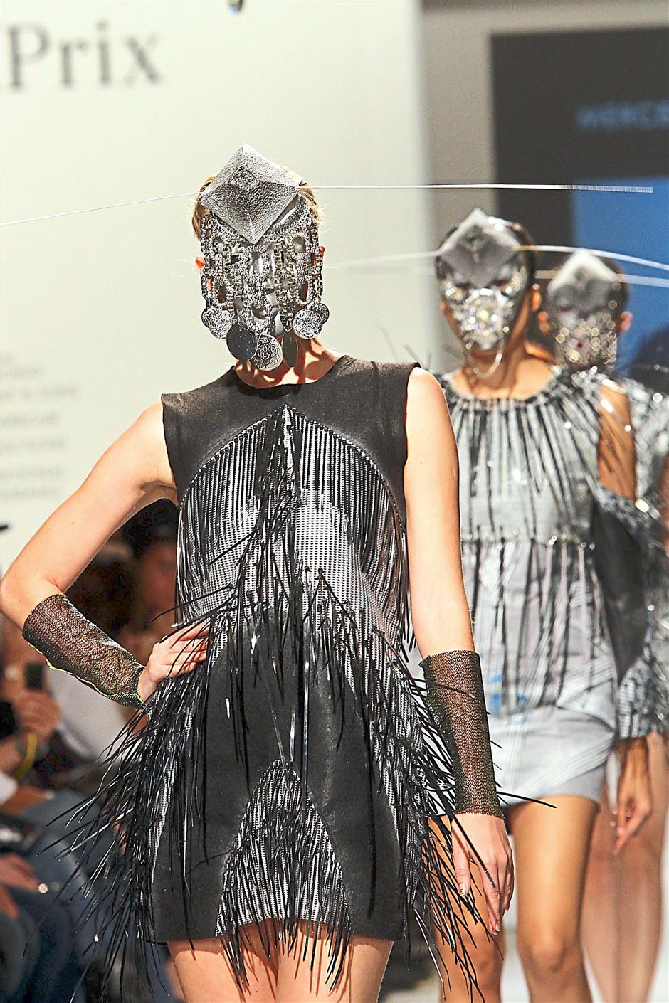 Catwalking knights: Designs by Arun Chee from City University of Science and Technology inspired by 'Metal Armour'.