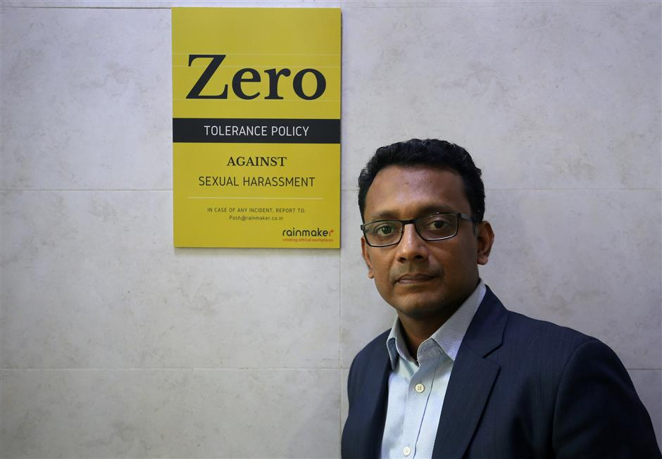 Antony Alex, CEO of consultancy firm Rainmaker, poses for a photograph inside his office in Mumbai, India, November 15, 2018. REUTERS/Francis Mascarenhas