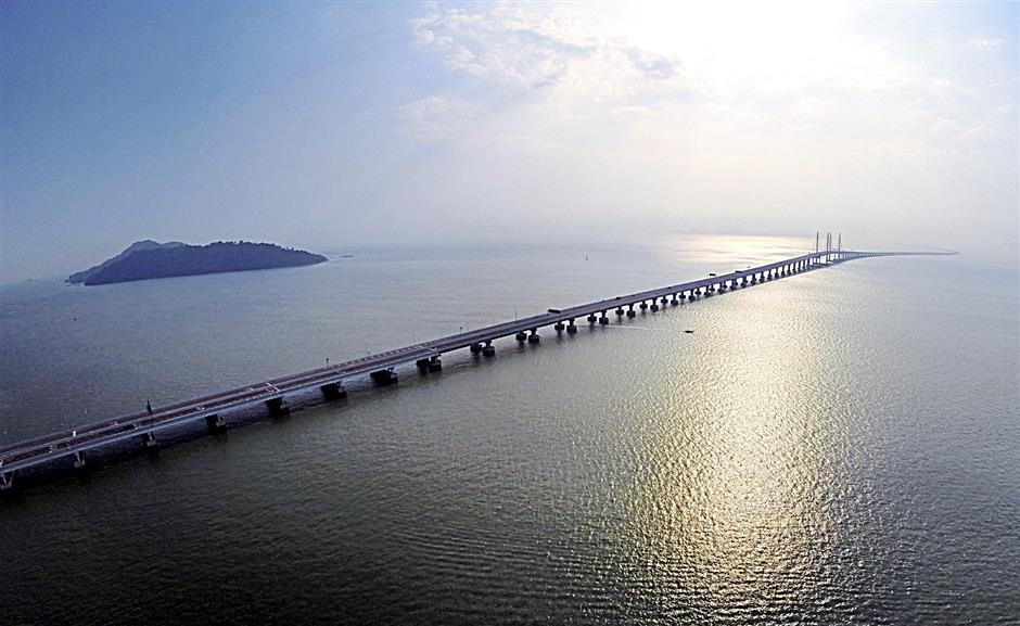 New link: An aerial view of the second Penang bridge which is the longest one in South-East Asia.