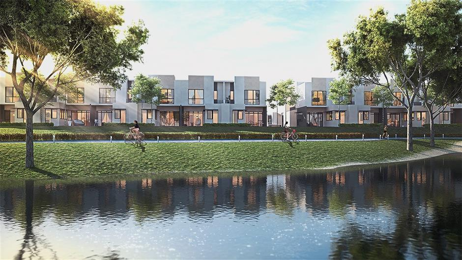 Citrine Lakehomes, the latest landed offerings of Sunway Iskandar at The Lakeview precinct.