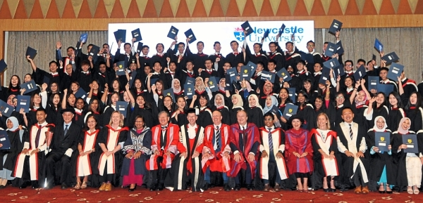 Newcastle University Medicine Malaysia graduates and lectures celebrating the convocation day. - ABDUL RAHMAN EMBONG/The Star