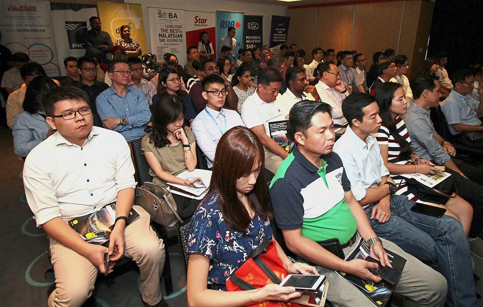 Some of the SOBA participants listening intently during the event.