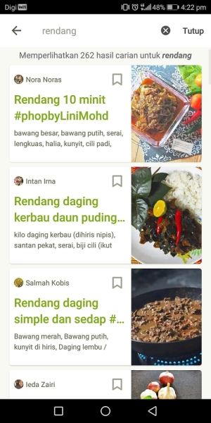 Rendang in just 10 minutes? This recipe is available on Cookpad.