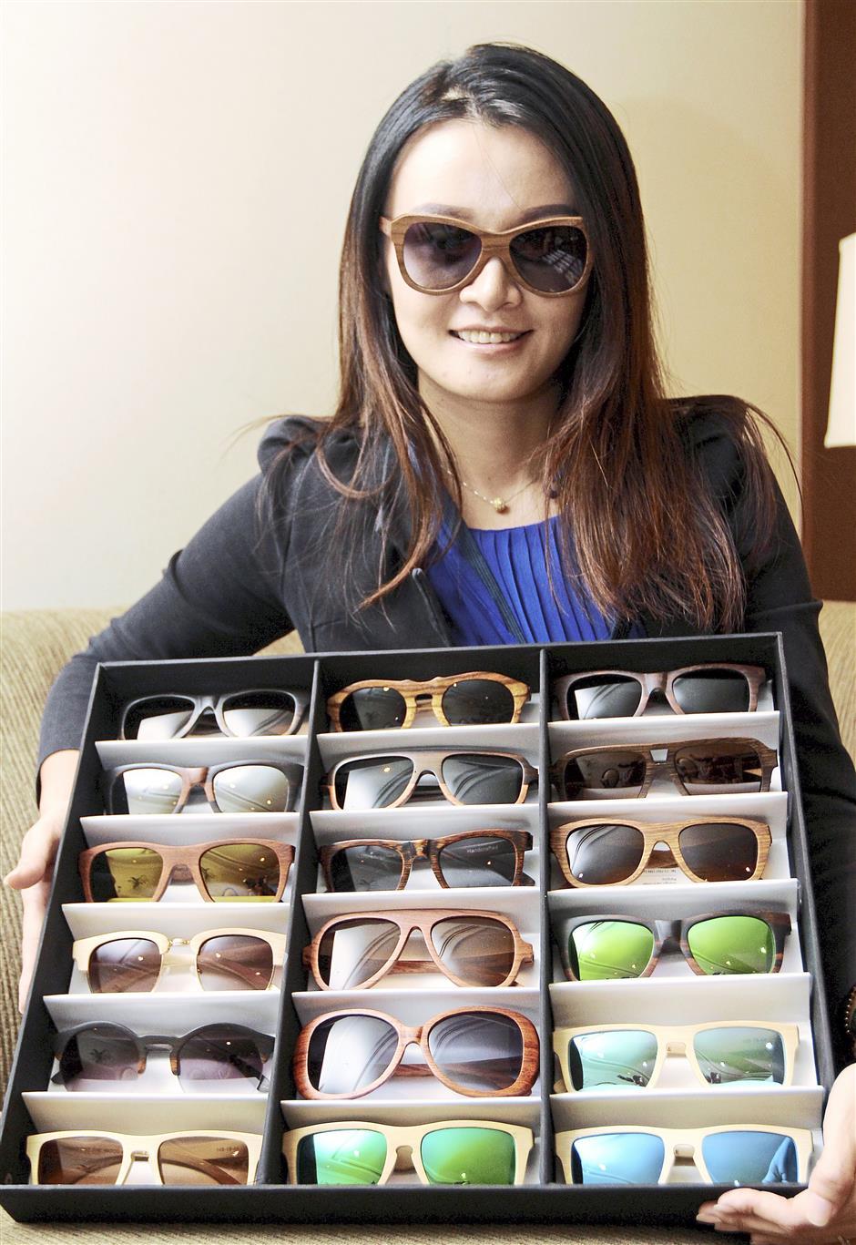 Sherrie Chai designed the stylish Yayokie wooden Sunglasses.