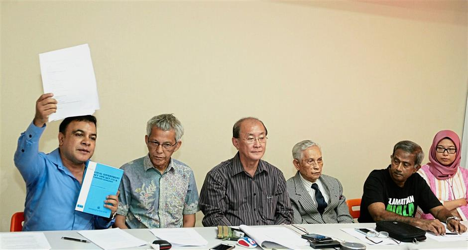 (From left) Fernandez, Esham, Phang, Abdul Aziz, Ali and Fadiah collectively agree that it should not take up to three years for local government elections to take place and that it should start by June 2019 with election of mayors.