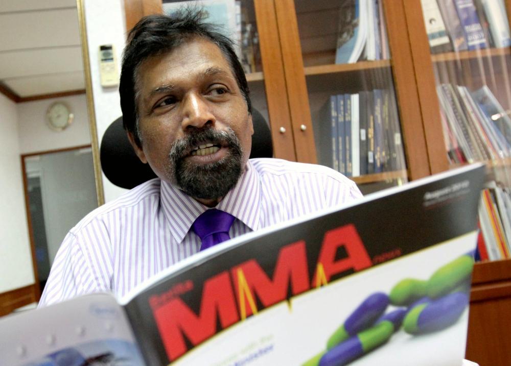 MMA president Datuk Dr NKS Tharmaseelan.
