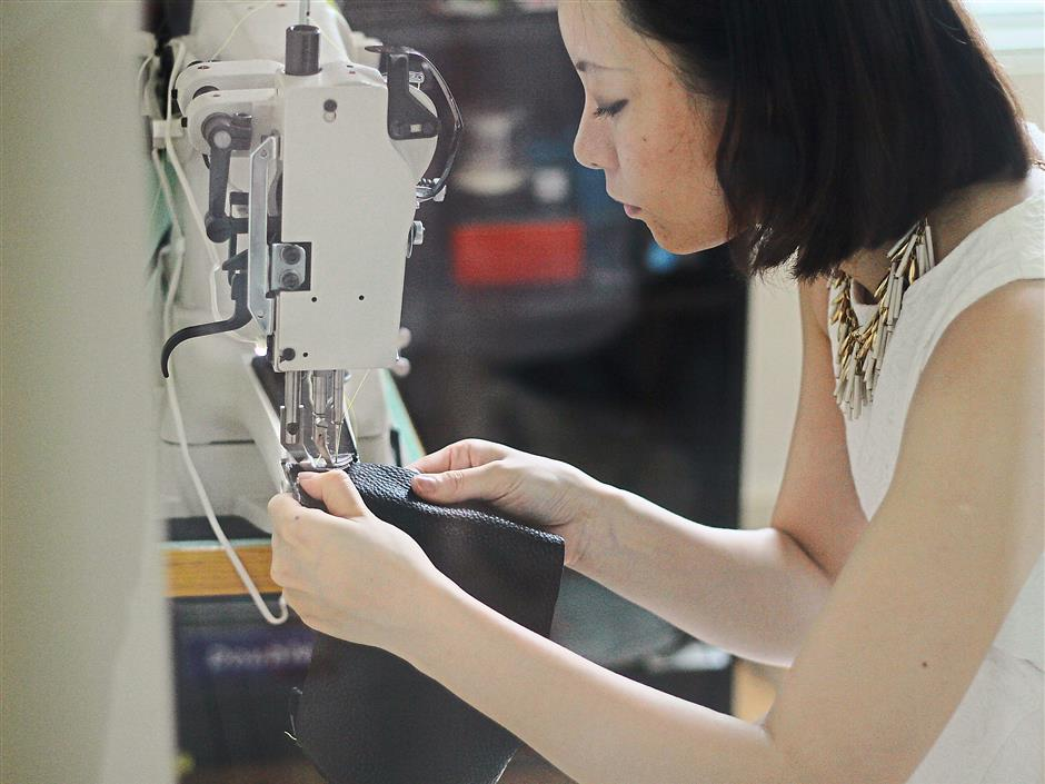 Ho makes all her samples from scratch in her studio