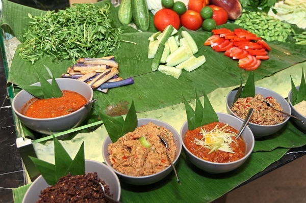 A wide array of sambal to go with the kerabu.