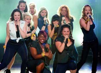 Unique: The cast members of Pitch Perfect work in harmony to deliver the hit songs in a seamless mix.