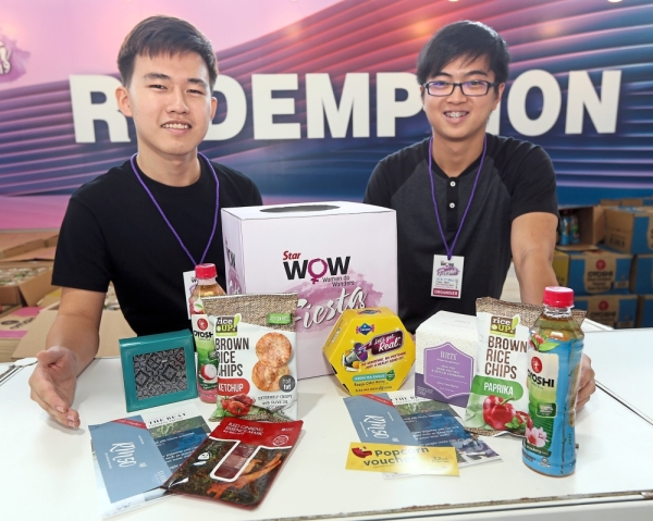 Visitors to the Star WOW Fiesta 2019 received many vouchers for a variety of products, assorted Oyoshi drinks and health and wellness products at the redemption booth.