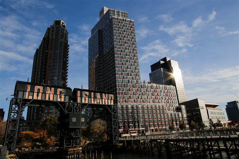 General view of Gantry Plaza State Park, in Long Island City, where Amazon.com is reportedly considering as part of its new second headquarters, New York, U.S. November 7, 2018. REUTERS/Eduardo Munoz