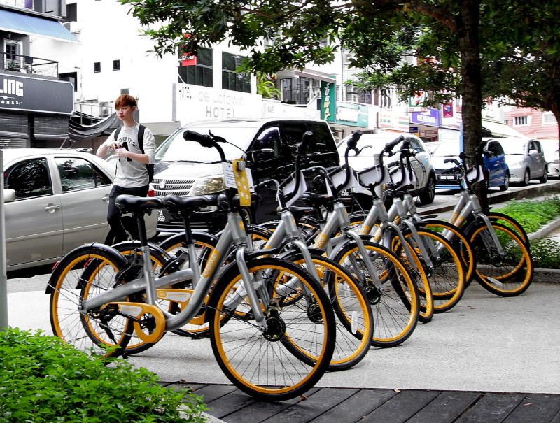 The problem with bicycle-sharing is that people will park indiscriminately instead of finding a proper place to park. - Filepic