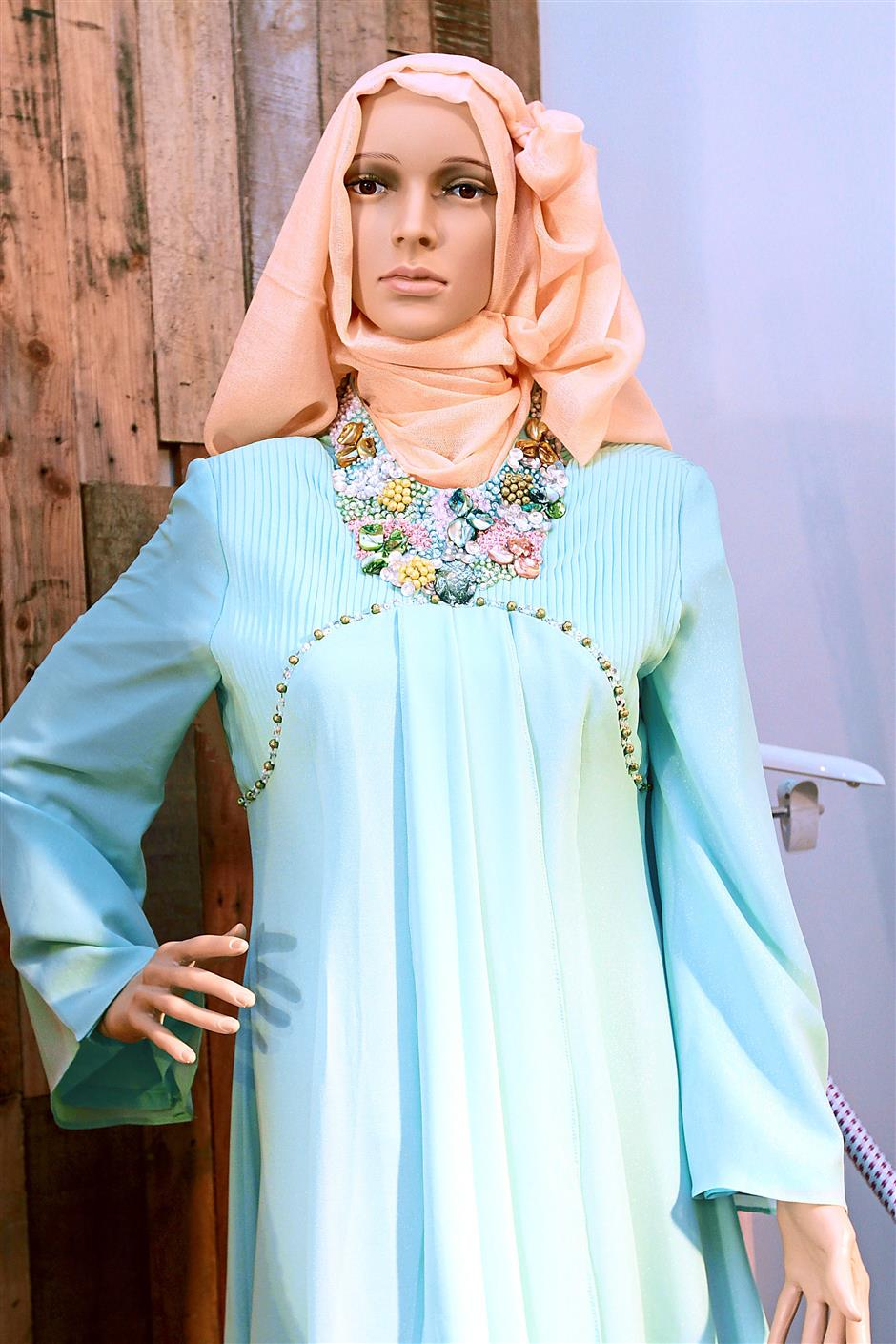 Softer shades: While Omar says strong colours are popular, pastels are also well received.