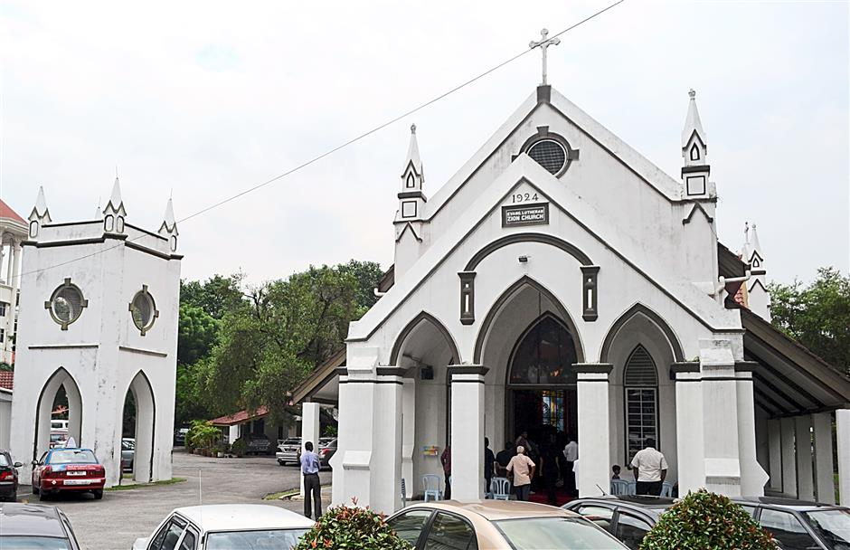 The  Evangelical Lutheran Church has its own distinctive architecture in Brickfields.