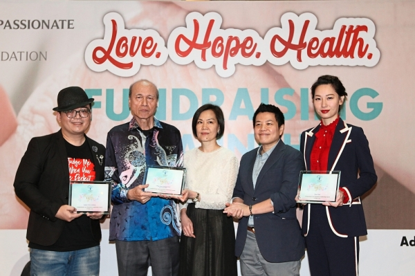 (From left) Amber Chia Academy social entrepreneur Brian Lee, Lam Thye, Chan, CCF co-founder and board director Jayse Ong and Tsui at the press conference.