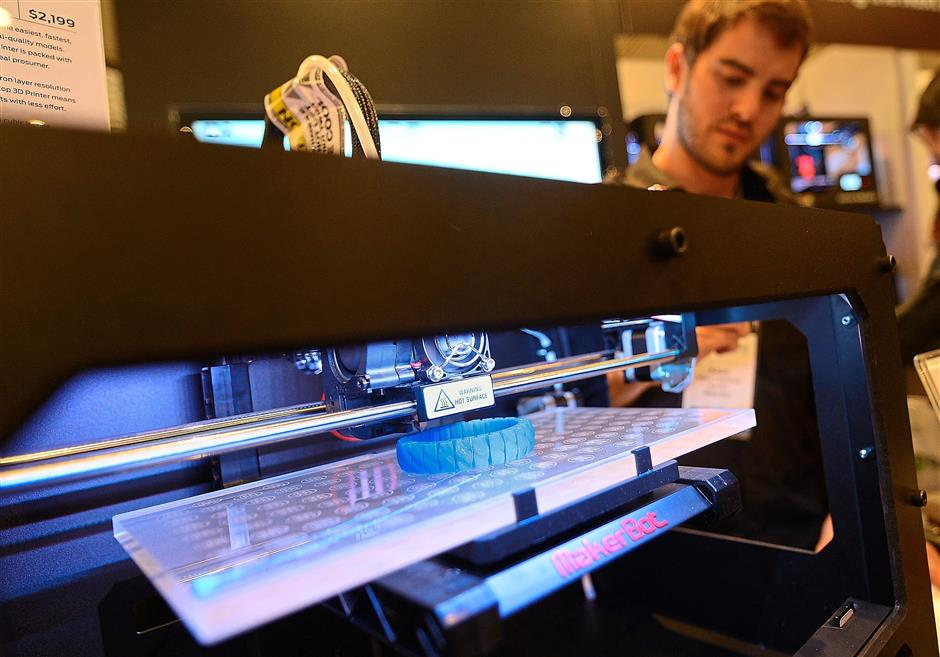 After a quiet few years, 3D printing looks to make a comeback in 2018. — AFP