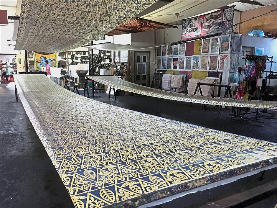 The Natural Batik Village in Balok is a place for visitors to get in-depth appreciation of local batik.