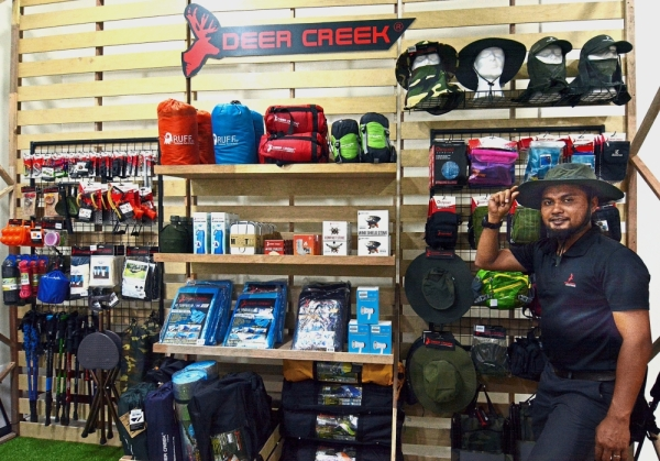 Wide range: Deer Creek has some 300 SKUs to cater to the different needs of a camper.