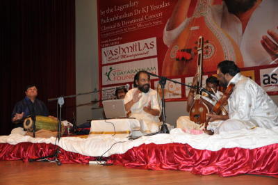Miraculous rhythms: Indian classical singer K.J. Yesudas performs in a concert called Athisaya Raagam in Kuala Lumpur recently.