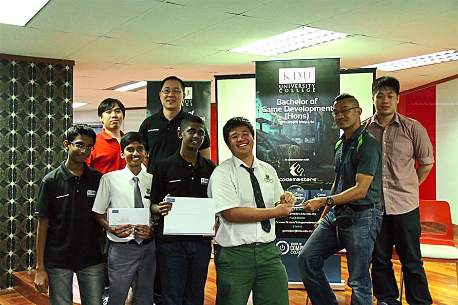 Third place winners: Team Champions from SMK (L) Methodist Kuala Lumpur.