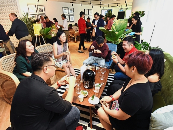 Guests getting a feel of the new business lifestyle in George Town, Penang.