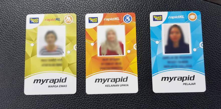Example of the MyRapid concession cards that were confiscated by Rapid KL.