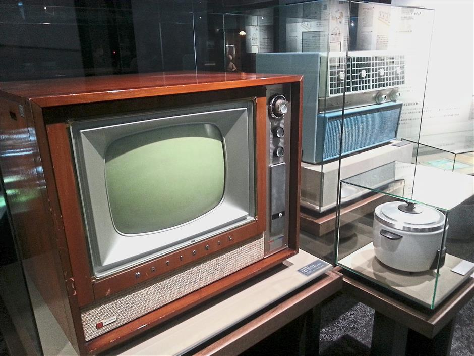 A television Panasonic produced in 1952, air conditioner made in 1958 and automatic electric rice cooker made in 1959. — Photos: K. SUTHAKAR/The Star