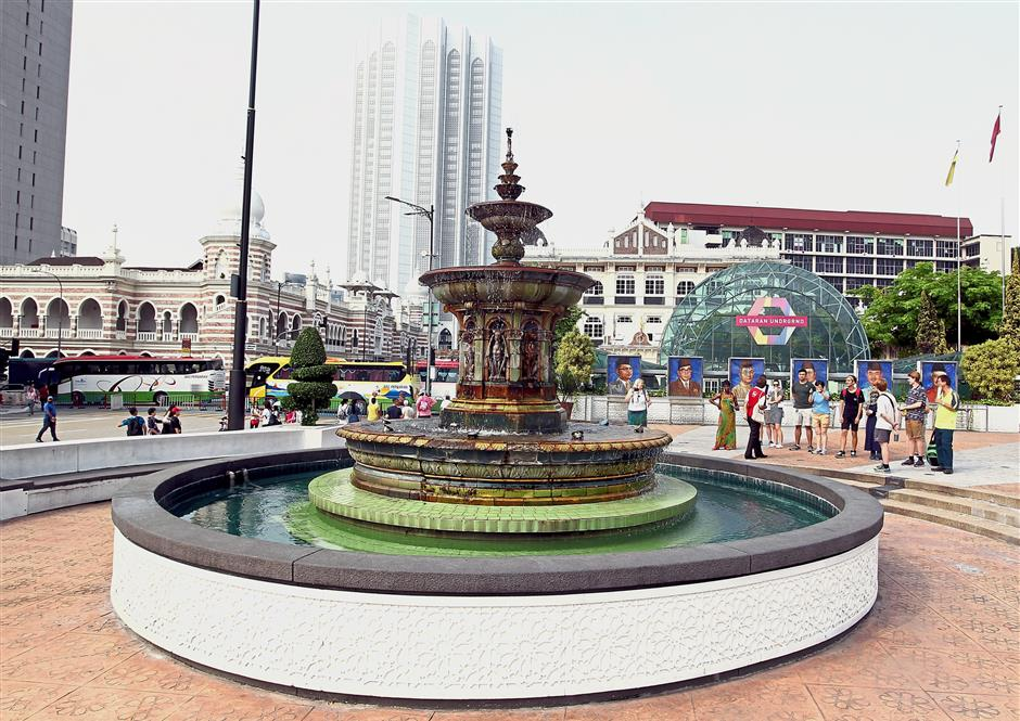 The Victorian Fountain (formerly known as Queen Victoria Fountain) at Dataran Merdeka was brought in from England and assembled here. — filepic