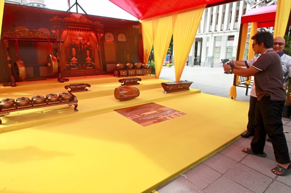 A gamelan exhibition featuring augmented reality (AR) technology is one of the attractions at the event.