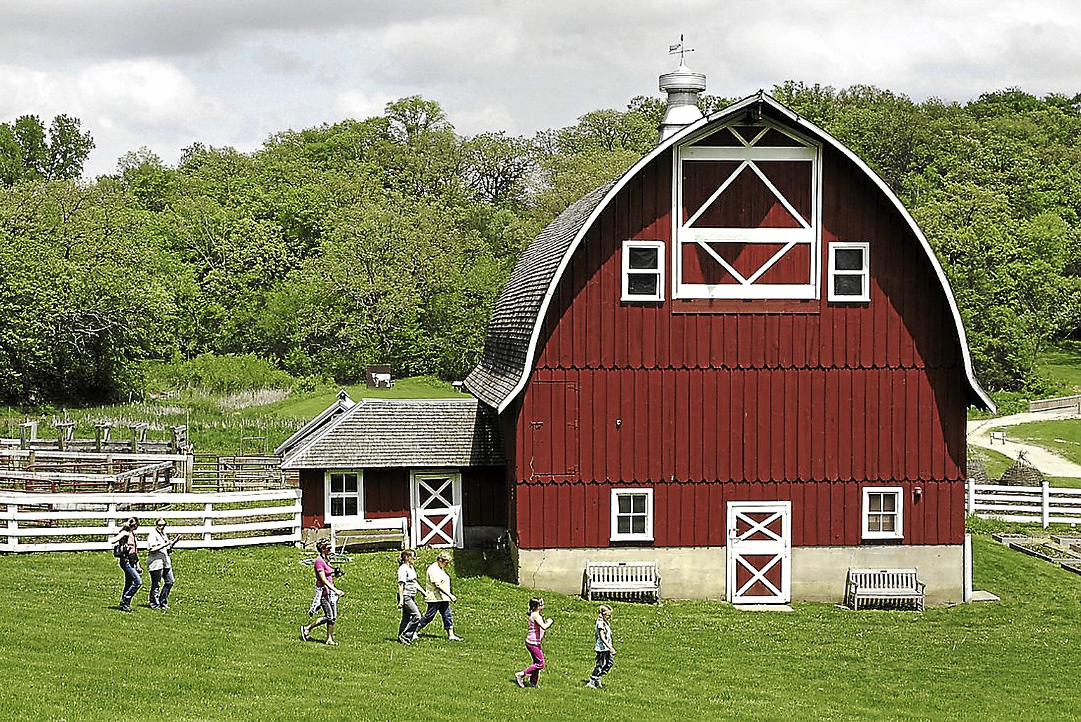 A restored old barn on Heritage Farm.