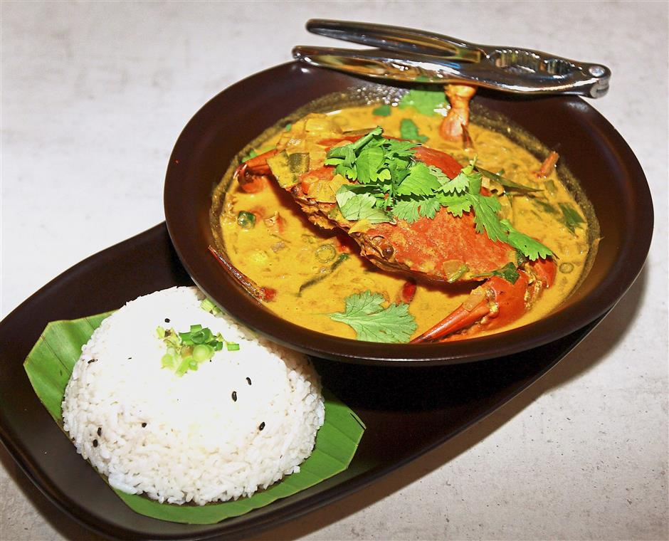 Trinco Crab Curry is a seasonal dish featuring Sri Lankan crabs marinated with Sri Lankan spices, served with a light and flavourful curry.