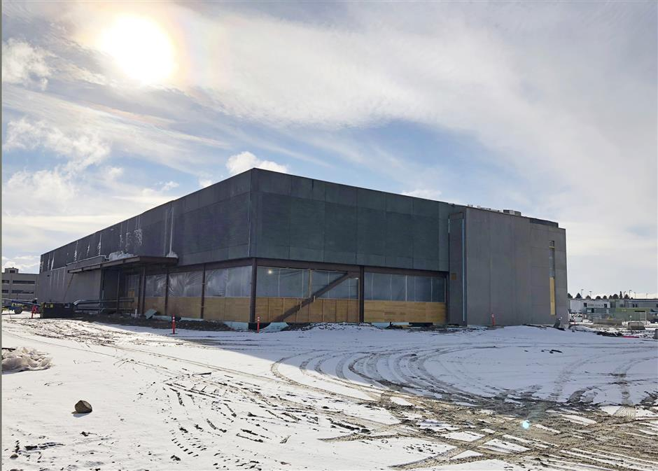 This Nov. 29, 2018 photo shows the new Cyber Integration Center being built in Idaho Falls, Idaho, that will be ready next fall. It\'s part of an effort by the United States to catch up with what cybersecurity experts say are threats to critical infrastructure control systems to energy pipelines, hydroelectric projects, drinking water systems and nuclear power plants. (AP Photo/Keith Ridler)