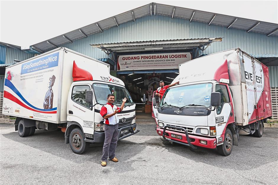 Driving ahead: The company has its own fleet of vans, motorcycles and trucks to provide full-fledged logistics services.