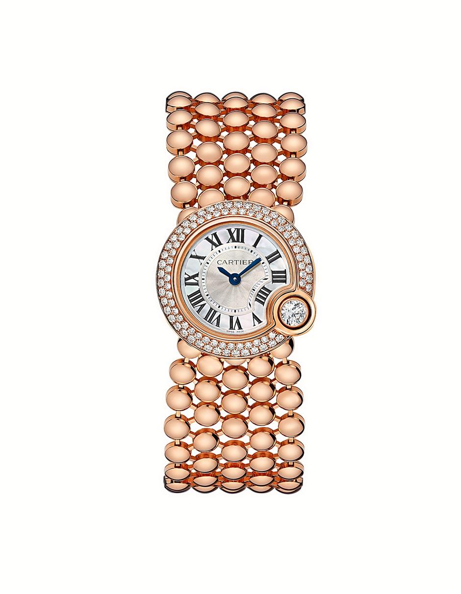 The new Ballon Blanc de Cartier is glamorous and delicate.