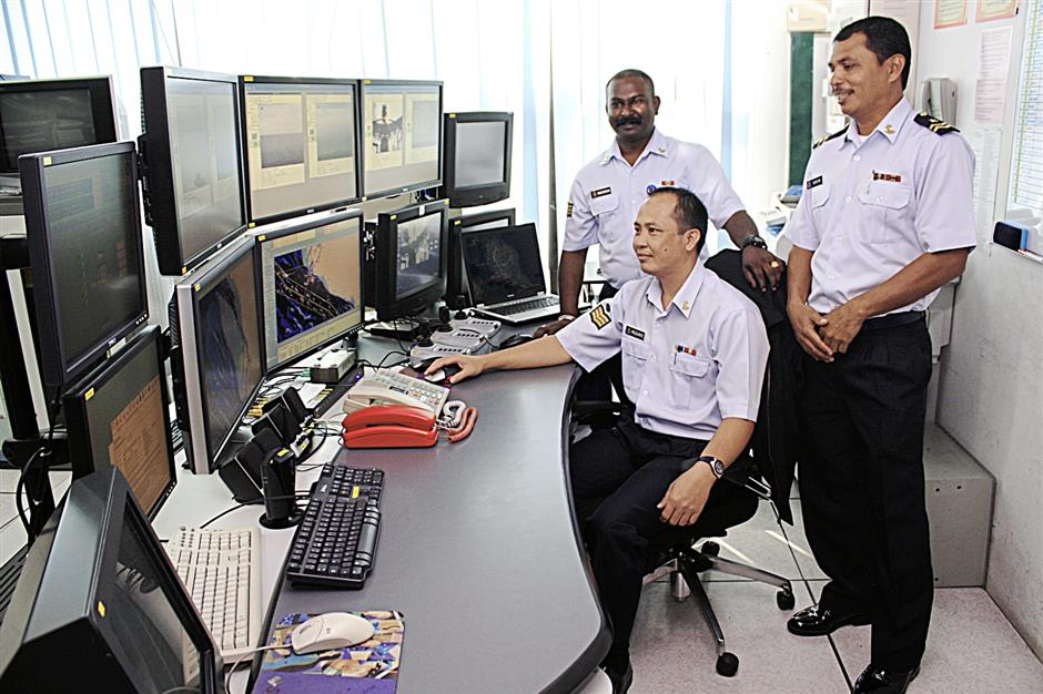 The monitoring system in the Malaysian Sea Surveillance System allows surveillance of up to 550km of the Straits of Malacca.