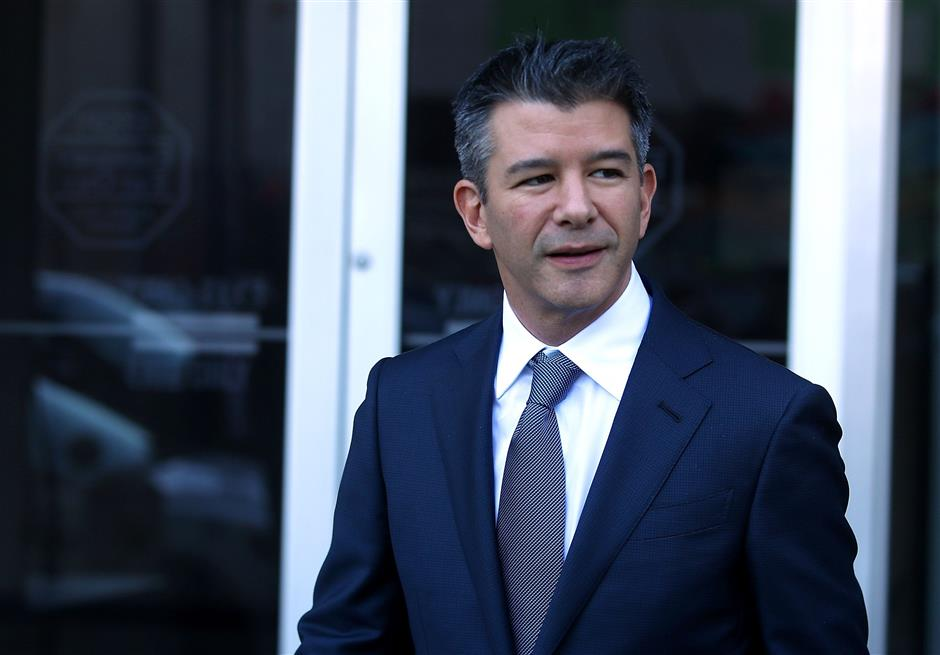 SAN FRANCISCO, CA - FEBRUARY 07: Former Uber CEO Travis Kalanick leaves the Phillip Burton Federal Building on day three of the trial between Waymo and Uber Technologies on February 7, 2018 in San Francisco, California. Waymo, an autonomous car subsidiary owned by Google\'s parent company Alphabet, has accused Uber of theft of trade secrets on its self-driving vehicle development by alleging former Waymo employee Anthony Levandowski illegally downloaded 14,000 confidential documents before leaving to start his own self-driving car company, Otto, which Uber acquired shortly after for a reported $680 million.   Justin Sullivan/Getty Images/AFP == FOR NEWSPAPERS, INTERNET, TELCOS & TELEVISION USE ONLY ==
