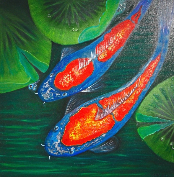 Zhang focuses on a pair of fish and titled it 'Partners'.