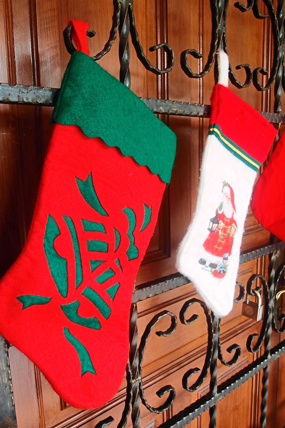 3. Christmas stockings - Using Christmas stockings as decorations draws influence from the legend of Saint Nicholas of Myra.Top 10 story: 10 Christmas traditions origins.