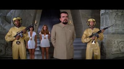 Spill the beans: Hugo Drax (centre, played by Michael Lonsdale) in Moonraker. His biggest flaw was that he talked to much ... on his u2018secretu2019 grand schemes.