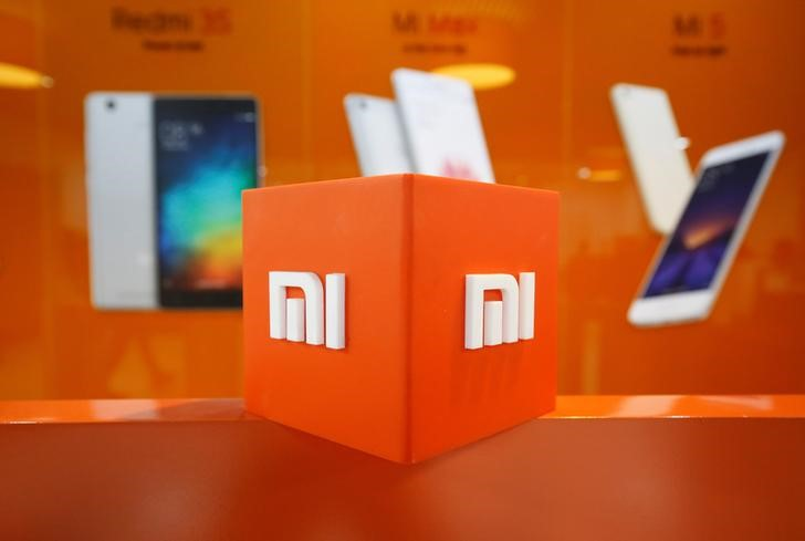 The logo of Xiaomi is seen inside the company\'s office in Bengaluru, India January 18, 2018. REUTERS/Abhishek N. Chinnappa/Files