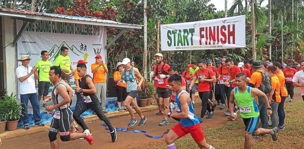 Participants in last year's inaugural Bung Sadung climbathon, which received positive response.