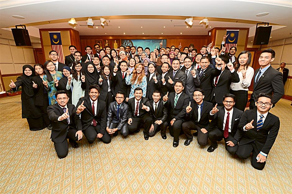 The candidates for the 2014 Perdana Fellows Programme, which gives bright young Malaysians the chance to work with Cabinet ministers as interns.