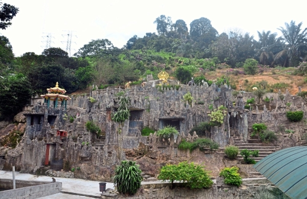 The stone garden at Hwa Kuo Shan Temple in Sedenak is a popular attraction among locals and Singaporeans.
