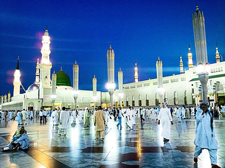 ... while the Al-Nabawi Mosque in Medina is the second holiest site.