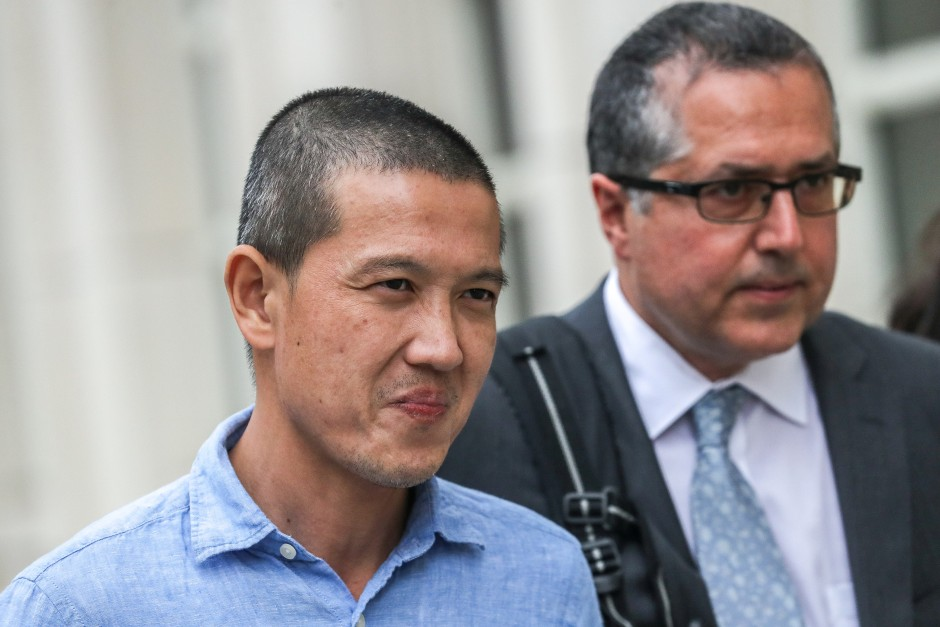 Ex-Goldman Sachs banker Roger Ng leaves the federal court in New York, on May 6, 2019. u2013 Reuters