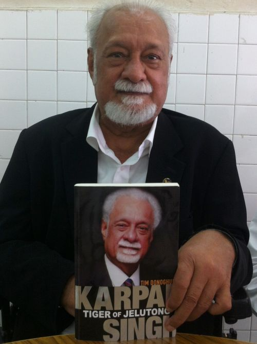 Karpal with his book Tiger of Jelutong.